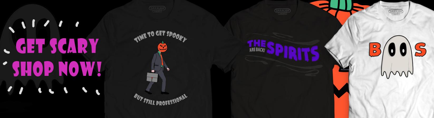 Halloween T-shirts Banner